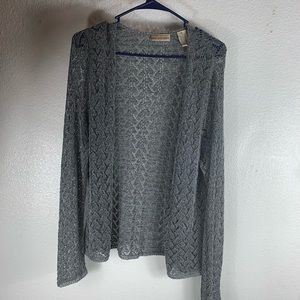 apostrophe pretty cardigan lace grey  XL